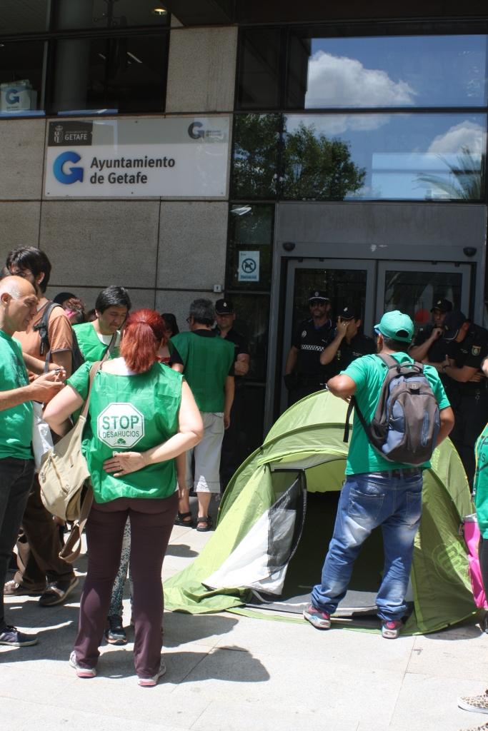 Protesta frente al Ayuntamiento -Foto archivo